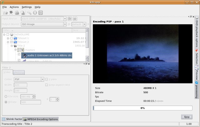 Screenshot 6 - Ripping and encoding in action