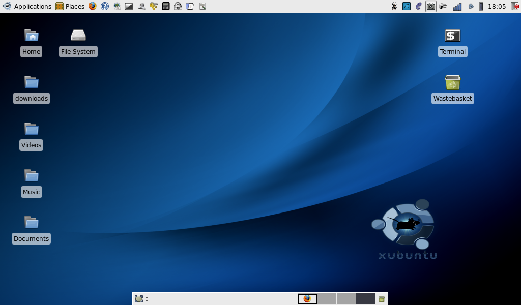 aspire one xubuntu screenshot