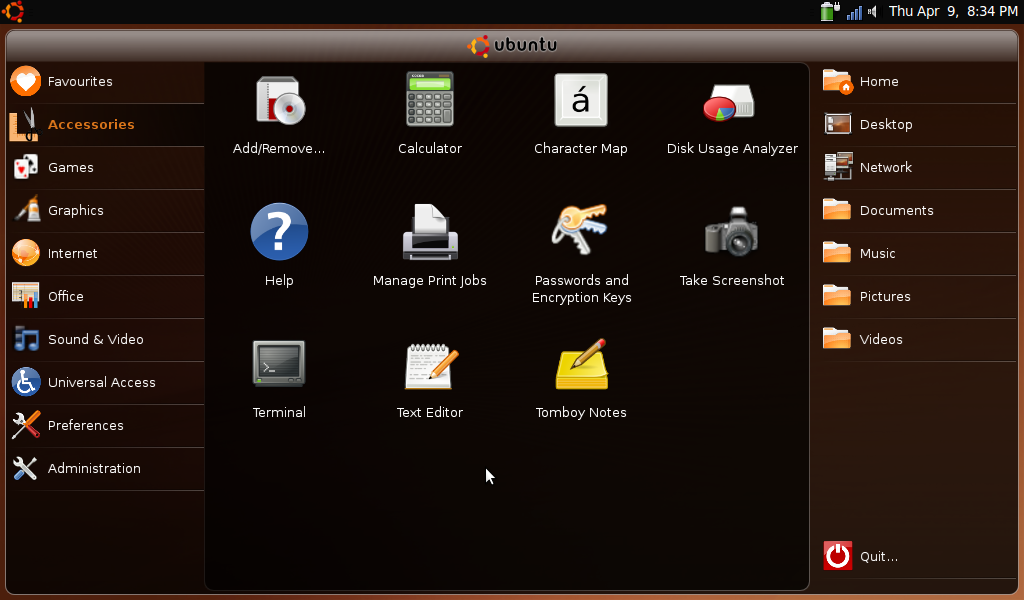 aspire one ubuntu-nr screenshot