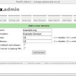 image of postfixadmin page