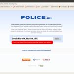 screenshot of www.police.uk website