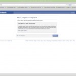 image of facebook login page