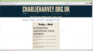 image of spoof daily mail random page
