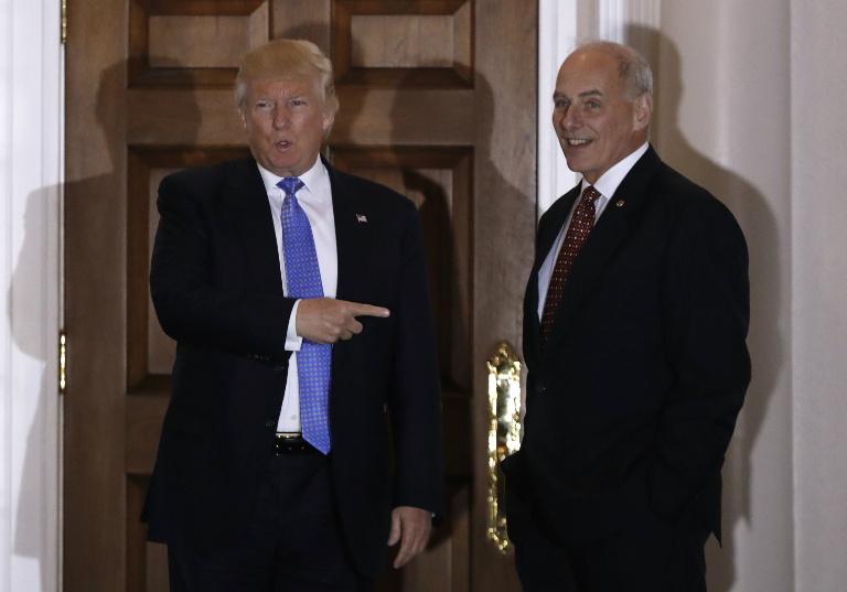 Donal Trump with John Kelly