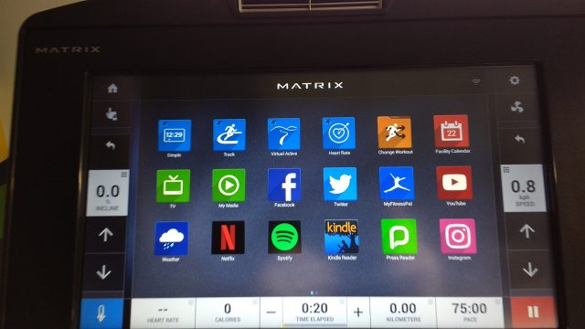 image of gym workstation screen